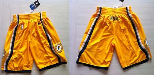 bfcce5ed6a6 Indiana Pacers Yellow NBA Shorts